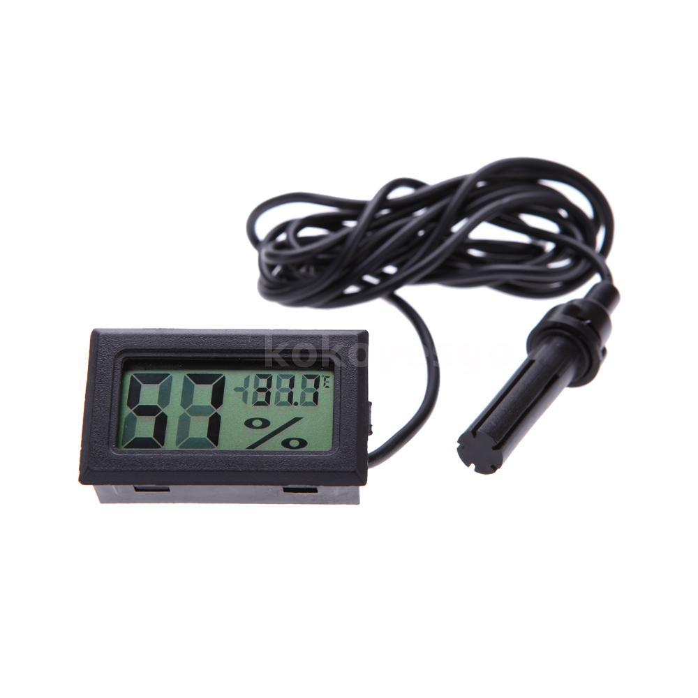 Mini termometro higrometro medidor de humedad digital for Medidor de temperatura y humedad digital
